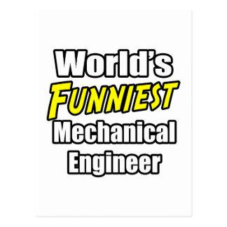 World's Funniest Mechanical Engineer Postcard