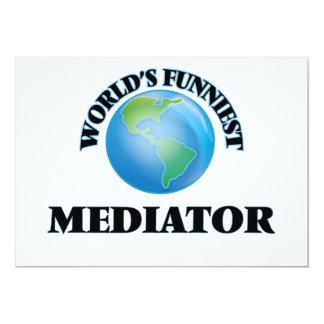 "World's Funniest Mediator 5"" X 7"" Invitation Card"