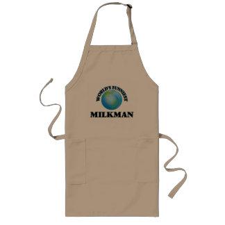 World's Funniest Milkman Long Apron