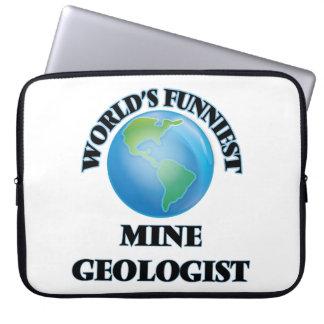 World's Funniest Mine Geologist Laptop Sleeves