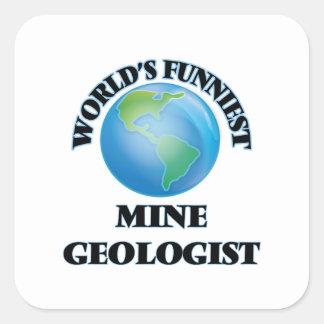 World's Funniest Mine Geologist Square Sticker