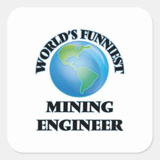 World's Funniest Mining Engineer Square Sticker