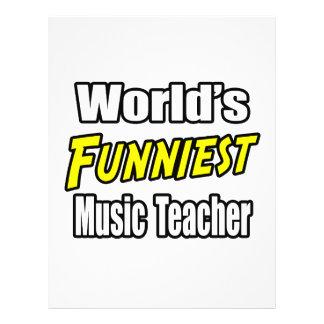 """World's Funniest Music Teacher 8.5"""" X 11"""" Flyer"""