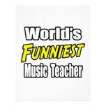 World's Funniest Music Teacher Flyer Design