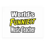 World's Funniest Music Teacher Postcard