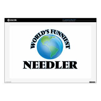 "World's Funniest Needler 17"" Laptop Skin"