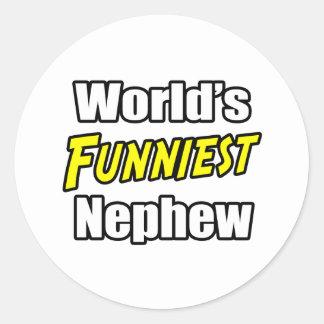 World's Funniest Nephew Classic Round Sticker
