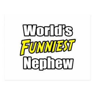 World's Funniest Nephew Postcard