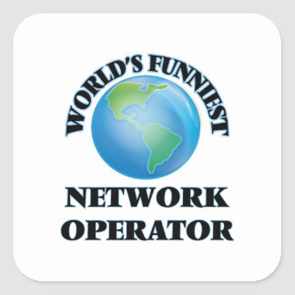 World's Funniest Network Operator Square Stickers