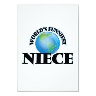 World's Funniest Niece 3.5x5 Paper Invitation Card