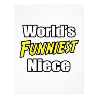 World's Funniest Niece Personalized Letterhead