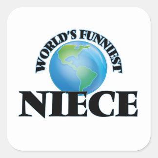 World's Funniest Niece Square Sticker