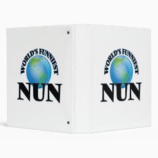 World's Funniest Nun 3 Ring Binders
