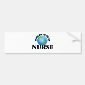 World's Funniest Nurse Bumper Sticker