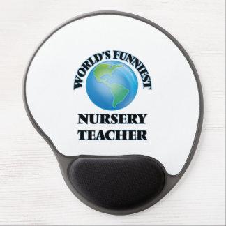 World's Funniest Nursery Teacher Gel Mouse Pad