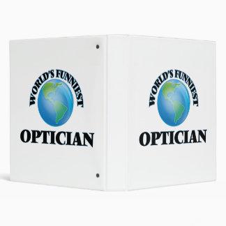 World's Funniest Optician Vinyl Binders