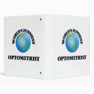 World's Funniest Optometrist Vinyl Binder
