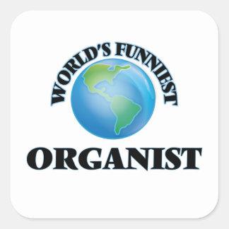 World's Funniest Organist Square Sticker