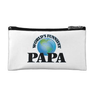 World's Funniest Papa Makeup Bag