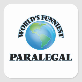 World's Funniest Paralegal Square Sticker