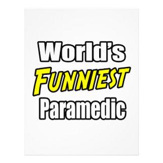 World's Funniest Paramedic Custom Flyer