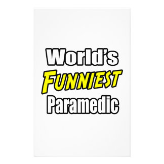 World's Funniest Paramedic Stationery