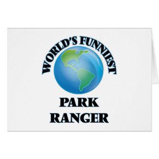 World's Funniest Park Ranger Greeting Card