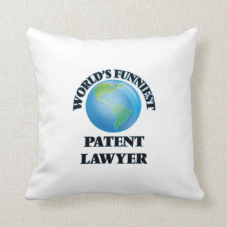 World's Funniest Patent Lawyer Throw Pillow