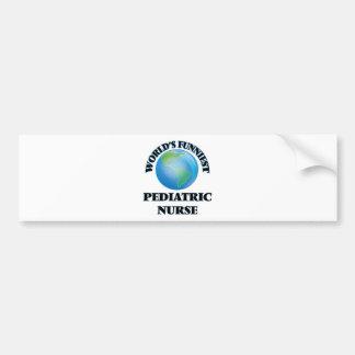 World's Funniest Pediatric Nurse Bumper Sticker