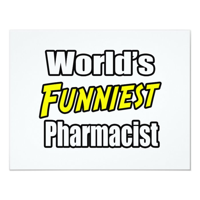 World's Funniest Pharmacist Card