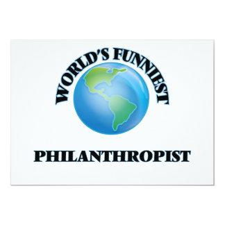 "World's Funniest Philanthropist 5"" X 7"" Invitation Card"