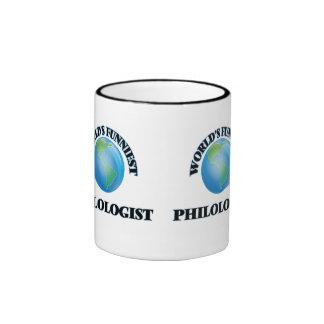 World's Funniest Philologist Ringer Coffee Mug
