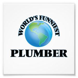 World's Funniest Plumber Photo Print