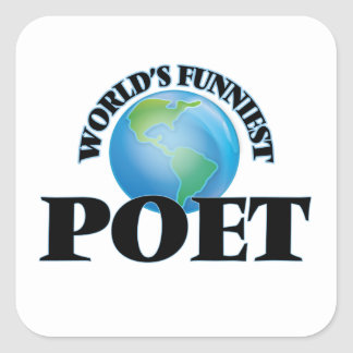 World's Funniest Poet Square Stickers