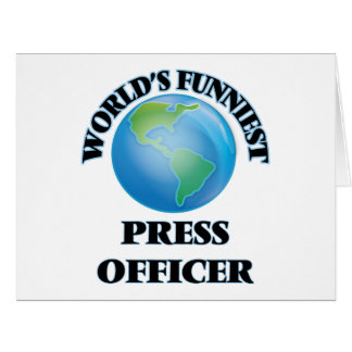 World's Funniest Press Officer Greeting Card
