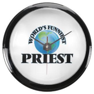 World's Funniest Priest Aqua Clock