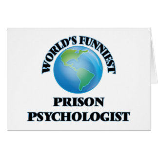 World's Funniest Prison Psychologist Cards