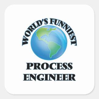 World's Funniest Process Engineer Square Sticker