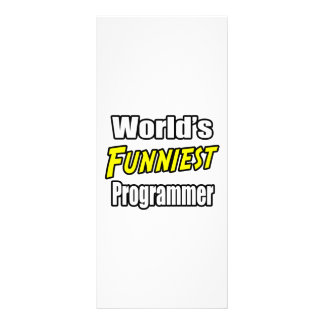 World's Funniest Programmer Personalized Rack Card