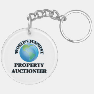 World's Funniest Property Auctioneer Acrylic Key Chains