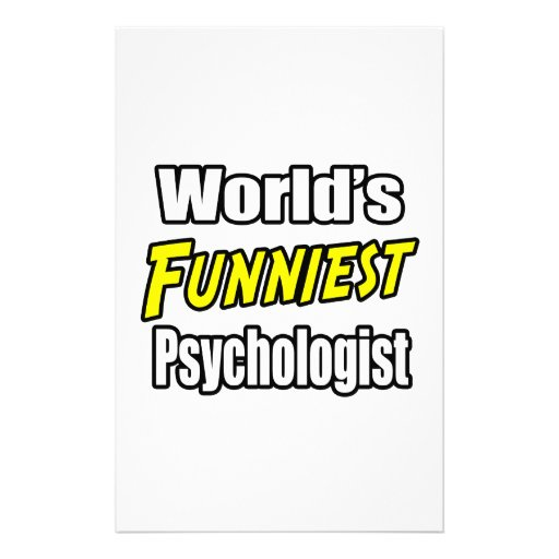 World's Funniest Psychologist Stationery Paper