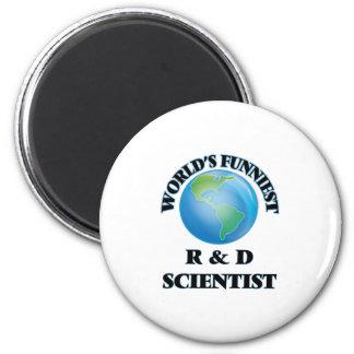 World's Funniest R & D Scientist 2 Inch Round Magnet