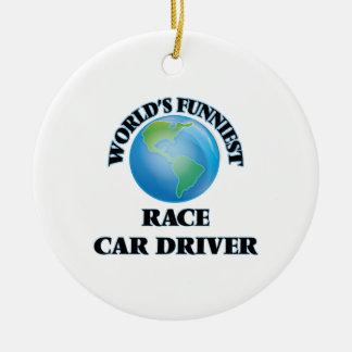 World's Funniest Race Car Driver Christmas Tree Ornament
