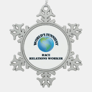 World's Funniest Race Relations Worker Ornament