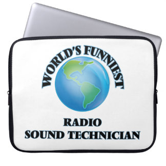 World's Funniest Radio Sound Technician Laptop Computer Sleeves