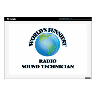 """World's Funniest Radio Sound Technician Decal For 17"""" Laptop"""
