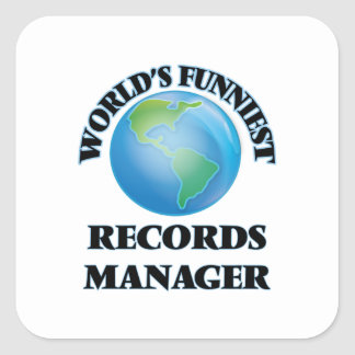 World's Funniest Records Manager Square Stickers