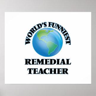 World's Funniest Remedial Teacher Posters