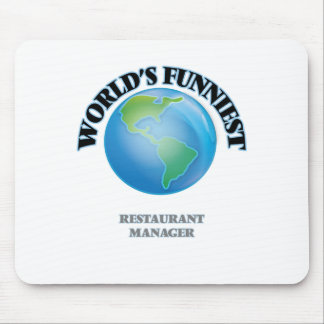 World's Funniest Restaurant Manager Mouse Pad