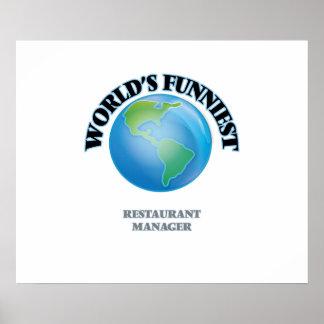 World's Funniest Restaurant Manager Poster